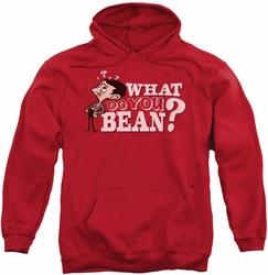 Mr Bean pull-over hoodie What You Bean adult red