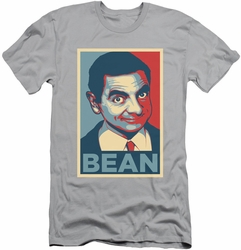 Mr Bean slim-fit t-shirt Poster mens silver