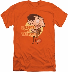 Mr Bean slim-fit t-shirt Respect The Teddy mens orange