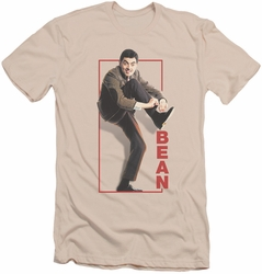 Mr Bean slim-fit t-shirt Tying Shoe mens cream