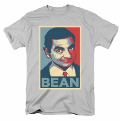 Mr Bean t-shirt Poster mens silver