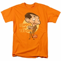 Mr Bean t-shirt Respect The Teddy mens orange