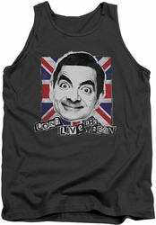Mr Bean tank top Long Live mens charcoal
