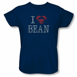 Mr Bean womens t-shirt I Heart Mr Bean navy