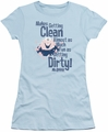 Mr Bubble juniors t-shirt Clean and Dirty light blue