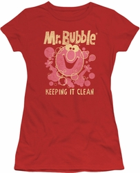 Mr Bubble juniors t-shirt Keepin it Clean red