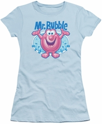 Mr Bubble juniors t-shirt Overflowing light blue
