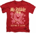 Mr Bubble kids t-shirt Keeping It Clean red