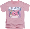 Mr Bubble kids t-shirt Shower Time pink