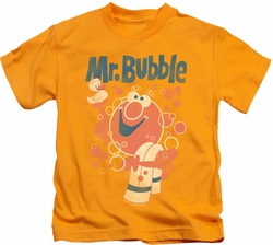 Mr Bubble kids t-shirt Towel And Duckie gold