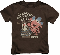 Mr Bubble kids t-shirt Your Act coffee