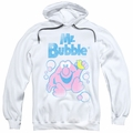 Mr Bubble pull-over hoodie 80s Logo adult white