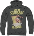 Mr Bubble pull-over hoodie Scrubbin adult charcoal