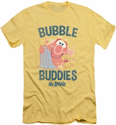 Mr Bubble slim-fit t-shirt Bubble Buddies mens banana/trans yellow