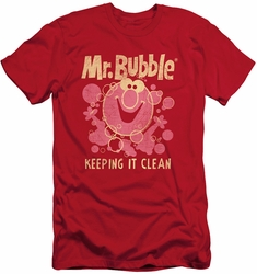 Mr Bubble slim-fit t-shirt Keeping It Clean mens red