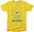 Mr Bubble t-shirt Classy Classic mens yellow