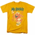 Mr Bubble t-shirt Towel and Duckie mens gold