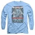 Mr Freeze adult long-sleeved shirt Coldest Man carolina blue