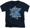 Mr Freeze kids t-shirt Cold navy