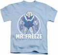 Mr Freeze kids t-shirt DC Comics light blue