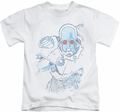 Mr Freeze kids t-shirt Snowblind white