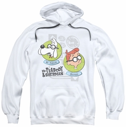 Mr Peabody & Sherman pull-over hoodie Gadgets adult white