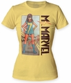 Ms. Marvel Stand juniors crew banana womens pre-order