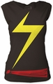 Ms. Marvel suit women's cut tee women vintage black pre-order