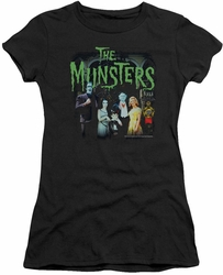 Munsters juniors t-shirt sheer 1313 50 Years black