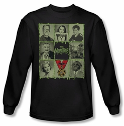 Munsters long-sleeved shirt Blocks black