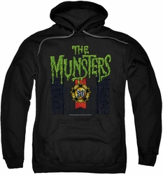 Munsters pull-over hoodie 50 Year Logo adult black