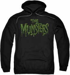 Munsters pull-over hoodie Distress Logo adult black