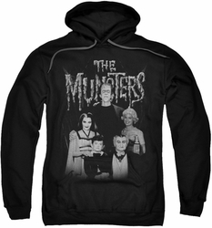 Munsters pull-over hoodie Family Portrait adult black