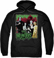 Munsters pull-over hoodie Normal Family adult black