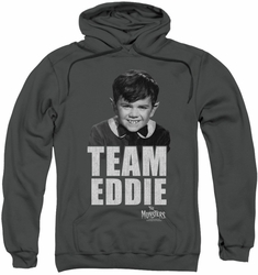 Munsters pull-over hoodie Team Edward adult charcoal