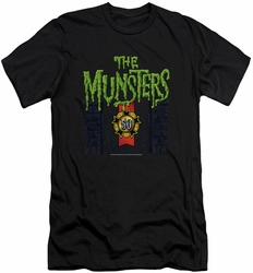 Munsters slim-fit t-shirt 50 Year Logo mens black