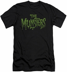 Munsters slim-fit t-shirt Distress Logo mens black