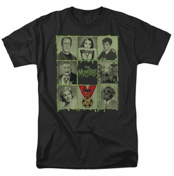 Munsters t-shirt Blocks mens black