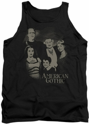 Munsters tank top American Gothic mens black