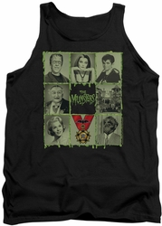 Munsters tank top Blocks mens black