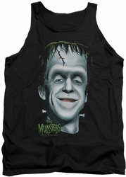 Munsters tank top Herman's Head mens black