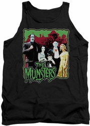 Munsters tank top Normal Family mens black