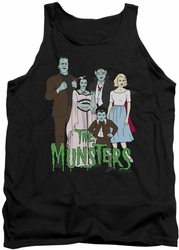 Munsters tank top The Family mens black