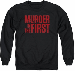 Murder In The First adult crewneck sweatshirt Stacked Logo black