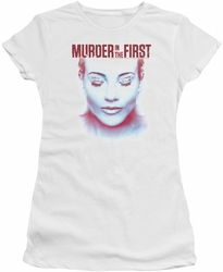 Murder In The First juniors t-shirt Don't Talk white