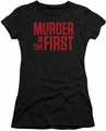 Murder In The First juniors t-shirt Stacked Logo black