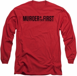 Murder In The First long-sleeved shirt Logo red