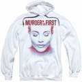 Murder In The First pull-over hoodie Don'T Talk adult white