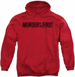 Murder In The First pull-over hoodie Logo adult red