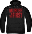 Murder In The First pull-over hoodie Stacked Logo adult black